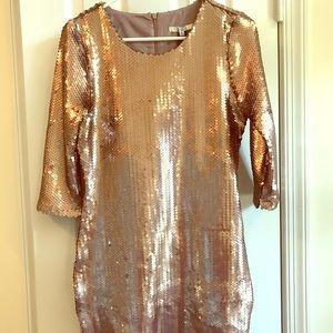 Like New Gold Sequin BB Dakota Mini Dress
